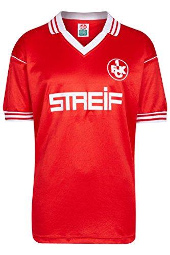 ScoreDraw Herren Retro - Trikot 1. FC Kaiserslautern | Heimtrikot 1980/81 in Rot, Größe: XL