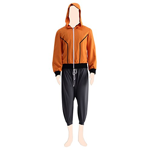 Dream2Reality Naruto Cosplay Costume Naruto Uzumaki Ver.9 The Last: Naruto The Movie X-Large