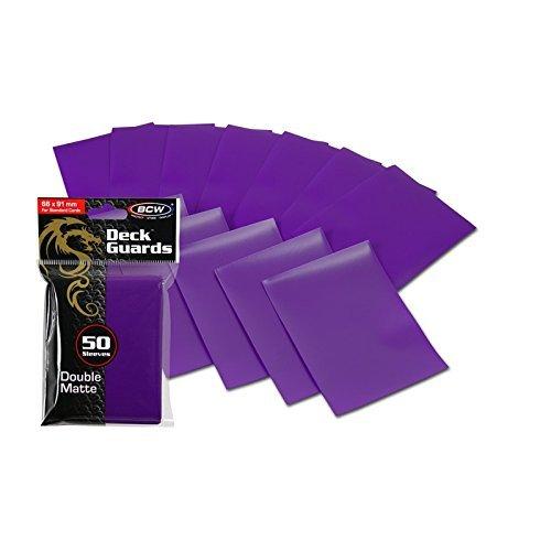 1500 Purple Double Matte Deck Guard Card Sleeves - Ultra Protectors - MTG - Dragon Ball Z image