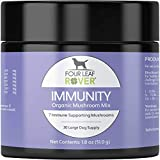 Four Leaf Rover: Immunity - Immune Supporting Organic Mushroom Complex for Dogs - Up to 60 Servings, Depending on Dog's Weight - Rich in Beta Glucans - Grown on Wood - Vet Formulated - for All Breeds