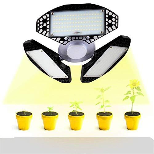 JHKGY 50W LED Grow Light - Vollspektrum LED Grow Lampe,Dreiblatt-Faltung Vollspektrum Pflanzenwachstumslicht, Für Den Garten Indoor Gewächshaus Zelt Pflanzen Gemüse