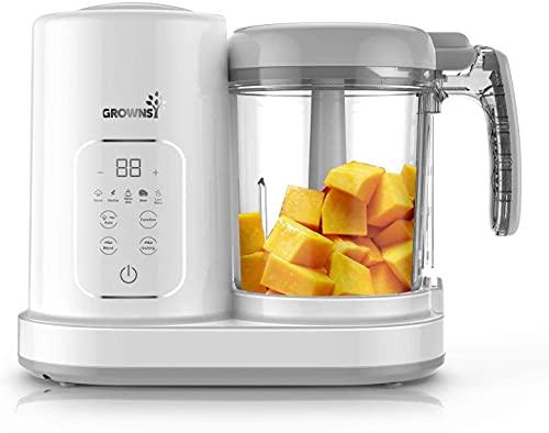 Robot Cocina Bebe | Robot de cocina |Licuadora De Puré, Máquina De Molinos Para Calentar Alimentos Para BebéS, Temperatura Constante Las 24 Horas,8 Bolsas De Alimentos Reutilizables