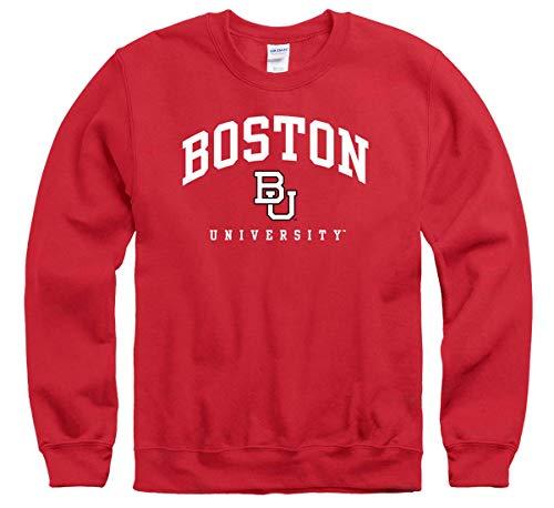 Shop College Wear Boston University Terriers Crew Neck Sweatshirt-Red