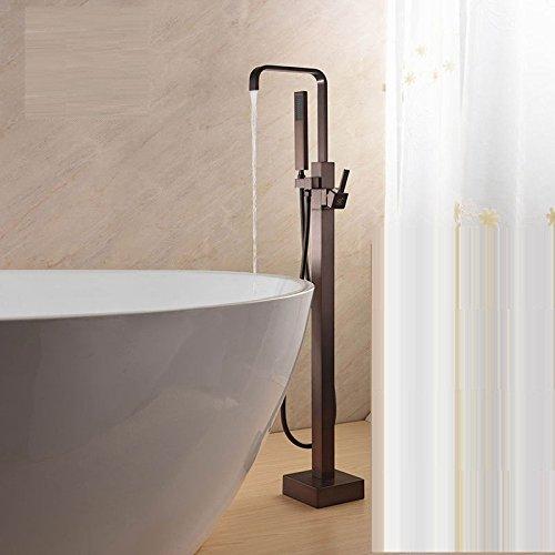 Bijjaladeva Antieke badkamer regendouche kraan systeem tikken Europese kwartets douche volledig koper tin solderen water vloer-tot-plafond badkuip armatuur met kleine douche handheld