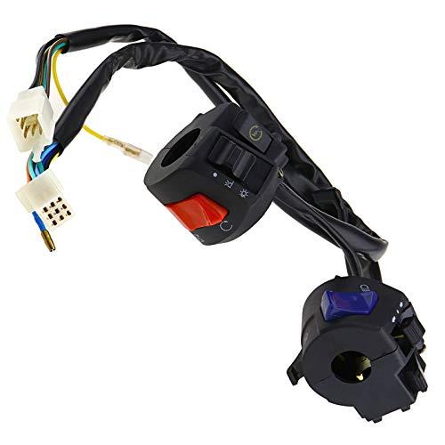 BIYM 2 Stück 7/8 Zoll Motorrad Lenker Hupe Blinker Licht Schalter Zündung