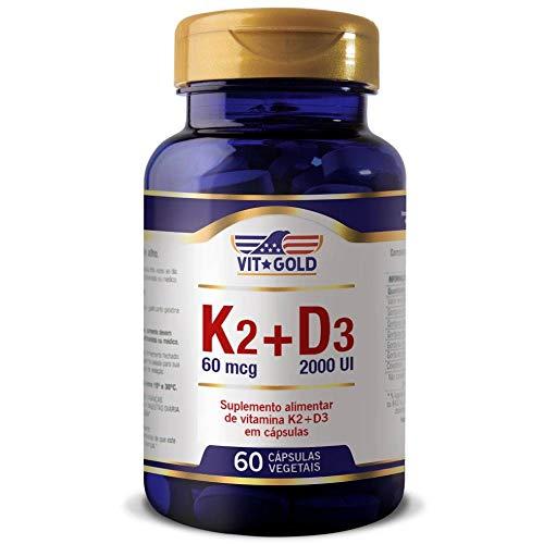 Vitamina K2 60mcg+ D3 2000ui Vitgold 60 cápsulas