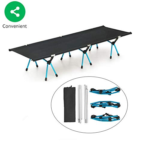 BSFYUK Heavy Duty Super Light Folding Camp Camping Gästebett 120Kg Strong Stable Folding Deluxe Camping Bett (190X65Cm)
