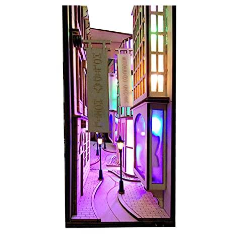 WLALLSS Insertos de Libro de Madera, sujetalibros de Arte, estantería de Bricolaje, decoración, Soporte, decoración, miniaturas de jardín de Hadas, Accesorios de decoración del hogar