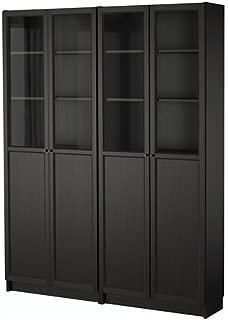 billy oxberg bookcase black brown