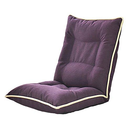L-R-S-F Le sofa se pliant démontable de nettoyage de tissu de lit de Recliner de chaise de dossier inclinable par ordinateur (Couleur : Dark purple.)
