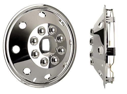 Radzierblendenset (4 Stück) chrom 15 Zoll universell passendes Set Wohnmobile PKW Transporter (15 Zoll)~