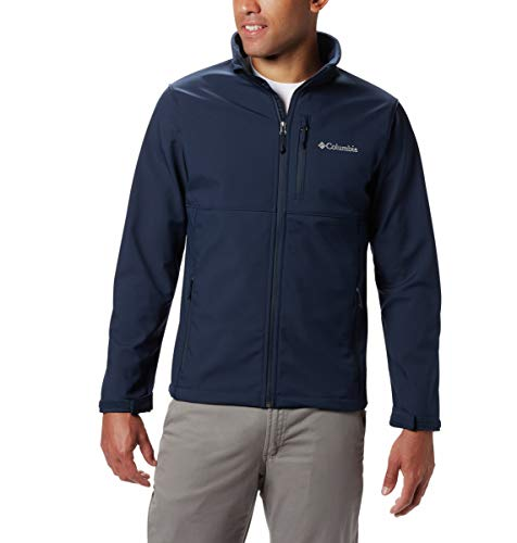 Columbia Men's Ascender Softshell Jacket, Water & Wind Resistant, Collegiate Navy, Large