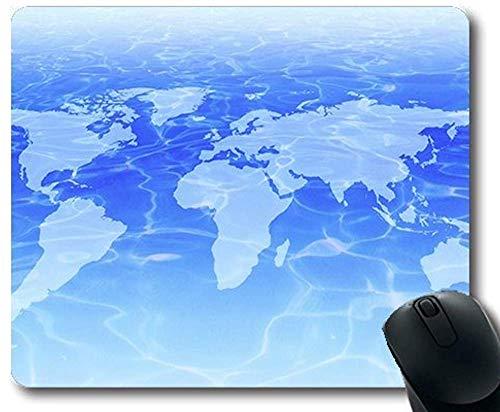 Magic map gaing muismat 30 * 25 * 0.3cm World Desktop Map Mouse mat met gestikte randen voor thuis en op kantoor antislip