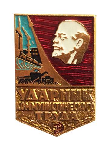 Ganwear® UdSSR Sowjetisch Russisch Original 1x Lenin Kommunist arbeit Worker Award Brosche Abzeichen