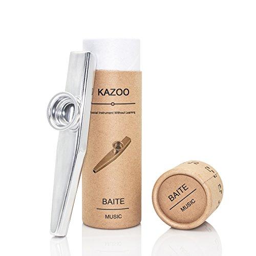 Kazoo metálico de calidad en un bonito regalo (un buen compañero para una guitarra, ukelele).