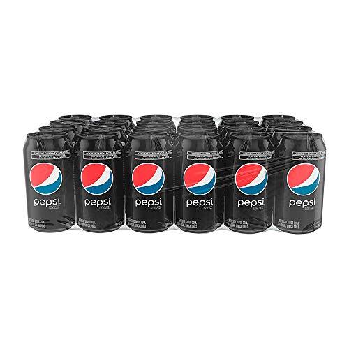 Pepsi Black, Refresco Sabor Pepsi sin Azucar, lata de 355 mililitros. Paquete de...