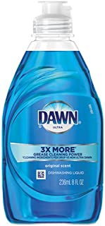 Dawn Liquid Dish Detergent, Original Scent, 8 Oz, Pack of 18 Bottles