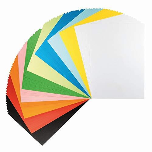 Ideen mit Herz Tonpapier | 100 Blatt | 150 g/m² | 10 Farben | Bastelpapier | Buntes Papier | Tonzeichenpapier | Bastelkarton | Buntpapier (DIN A4)
