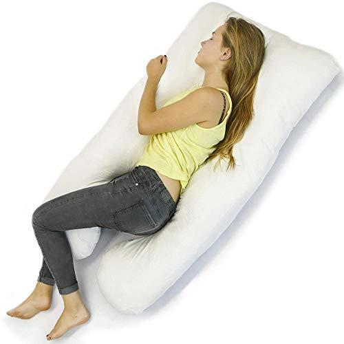 Kalavika Almohadas Embarazada Dormir y Coj/ín Lactancia Beb/é Protector de cama coj/ín de cuna 185cm 3D Dibujos Animados Cocodrilo lindo