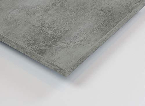 MySpiegel.de Tischplatte Holz Zuschnitt nach Maß Beschichtete Holzdekorplatte (90 x 90 cm, Beton Hell)