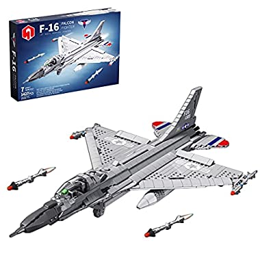 MingCheng Airplane Building Blocks Model Toy, 1427Pieces F-16 Light Fighter Brick Kits, Compatible with Lego