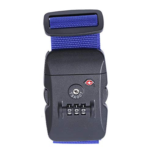 Logic(ロジック) スーツケースベルト TSAロック ベルト (全12色 ブルー 青) [盗難・紛失・荷崩れ防止] スーツケース用 鍵付き ダイヤルロック タスロック 長さ調節可能