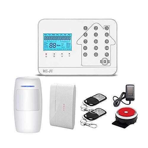 Alarma de la Puerta Sistema de Seguridad para el hogar WiFi System System Kit con App Push alarmas para el Trabajo en casa para la Seguridad de los niños (Color : White, Size : 1 Pack)