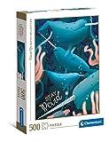 Clementoni- Fantastic Animals Narval - Puzle para Adultos, 500 Piezas, Fabricado en Italia (35099)