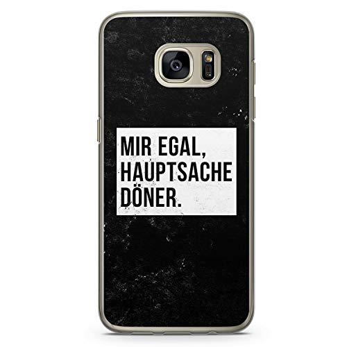 Mir Egal Hauptsache Döner - Hülle für Samsung Galaxy S7 Edge - Motiv Design Cool Witzig Lustig Spruch Zitat Grunge - Cover Hardcase Handyhülle Schutzhülle Case Schale