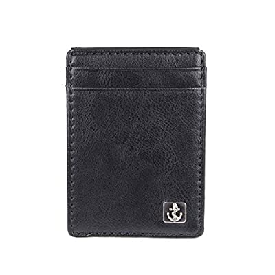 Dockers Men's RFID Blocking Slim Magnetic Front Pocket Wallet, One Size, black 3
