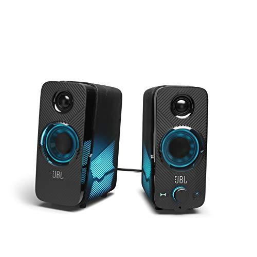 JBL QUANTUM DUO ゲーミングスピーカー/USB 3.5mm 接続/Bluetooth/ワイヤレス スピーカー/サラウンド/ライティング/ブラック JBLQUANTUMDUOBLKJN【国内正規品/メーカー1年保証付き】