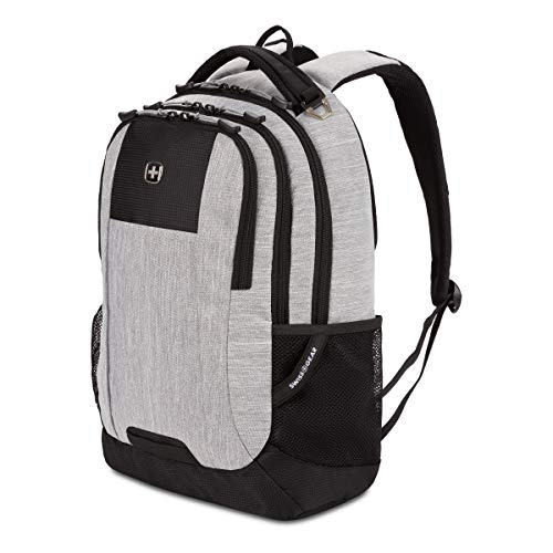 SWISSGEAR 5505 Laptop Backpack for Men and Women, Ideal for Commuting, Work, Travel, College, and School, Fits 15 Inch Laptop Notebook (Heather Gray)