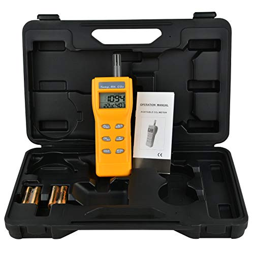 Indoor Air Quality 9999ppm Digital Carbon Dioxide Temperature Humidity NDIR Sensor IAQ CO2 Monitor WB DP Tester