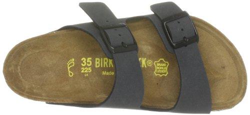 Birkenstock Arizona - Sandali Unisex - adulto, Grigio (Basalt Nubuk Normal Width), 42 (stretta)