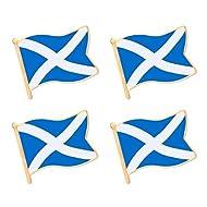 "ALEY Scottish Scotland Flag Lapel Pin Decorations (4 Pack) Scottish 1.05""x 0.9"""