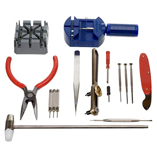 Generico TLS0009 Kit de 16 Herramientas de reparación de Relojes