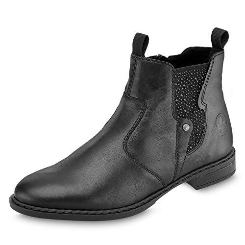 Rieker Damen 72460-00 Chelsea Boots, Schwarz (Schwarz/Schwarz/Schwarz 00), 37 EU