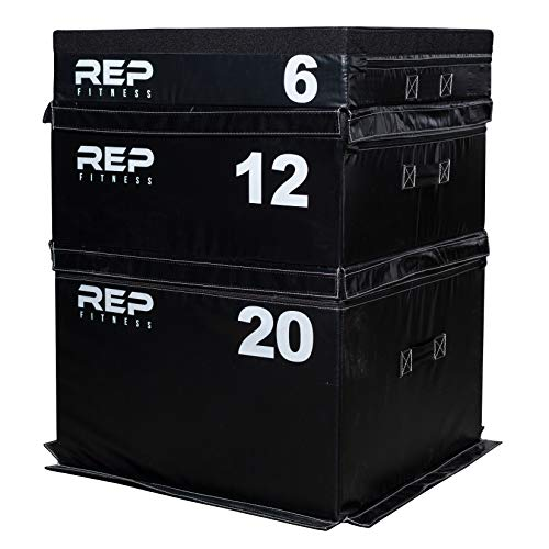 Rep Foam Soft Plyo Boxes - 6 inch, 12 inch, and 20 inch Combo Set