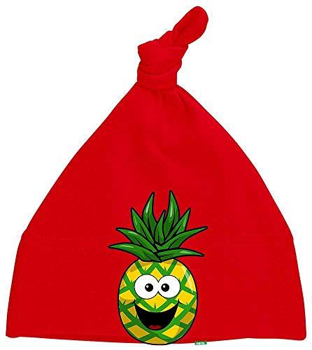 Hariz - Gorro para bebé, diseño de piña, color rojo