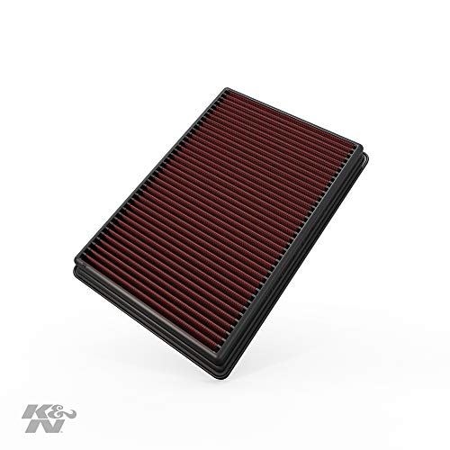 K&N Engine Air Filter: High Performance, Premium, Washable, Replacement Filter: 2002-2019 Dodge Ram Truck V6/V8/V10 (1500, 2500, 3500, 4500, 5500), 33-2247