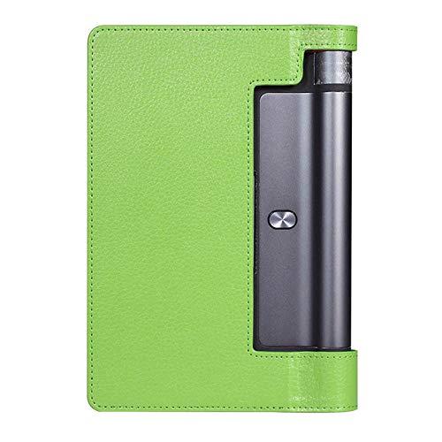 para Lenovo Yoga Tablet3 850F Case 850F Stand Stand FUTIO FUTIO FUTIO para Lenovo Yoga Tab 3 YT3-850F 850M 850L Caja de Cuero PU-Verde