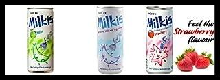 Lotte Milkis Soft Soda Variety Favor (Yogurt, Strawberry, Melon) (Pack of 18)