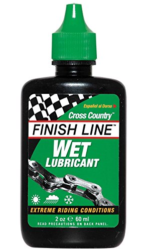Finish Line Mountain Bike Wet Chain Lube 2oz / 60ml/ Bicycle Cycling Cycle Biking Bike Lube Care Mountain MTB Off Road Racing Race Grease Maintenance Part Component Gear Kit Oil Spare Cross Country