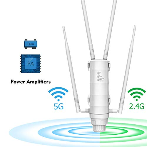 2.4G & 5G Wi-Fi Outdoor AP/Repeater/Router High Power AC1200 Met Poe En High Gain Antennes Wifi Range Extender Amplifier