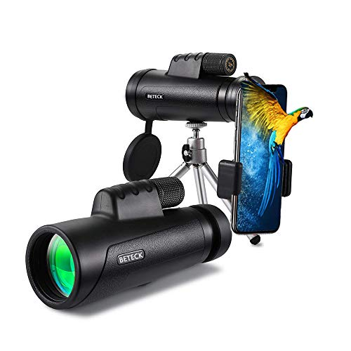 Telescopio Monocular 12 x 50, BETECK HD Zoom Óptico Telescopio Impermeable y a Prueba de Niebla para la observación de pájaros, Turismo, Caza, Acampada y Concierto (12X50)