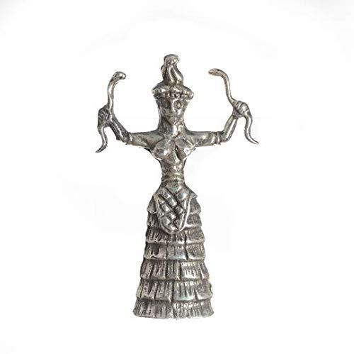 BeautifulGreekStatues Broche con diseño de serpiente minoan de Ariadne de la diosa griega Ariadne