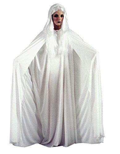 FunWorld GTH Women's Gossamer Ghost White Theme Party Fancy Halloween Costume, Standard (4-14)