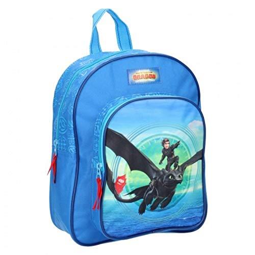 Dragons 3 Kinderrucksack - Hiccup und Ohnezahn - Blau