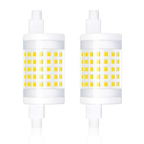 Bonlux R7s 78mm LED Dimmerabile 10W Bianco Caldo 3000K, Sostituzione per 100W J78 Lampada a Doppio Effetto Lineare R7s Alogena J-Type Lampadina per Lampada da Parete (Confezione da 2)