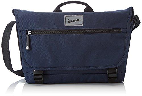 Vespa Footwear Unisex-Erwachsene Gateway messengerbag, Blau (blu 69), 37x24x11 cm